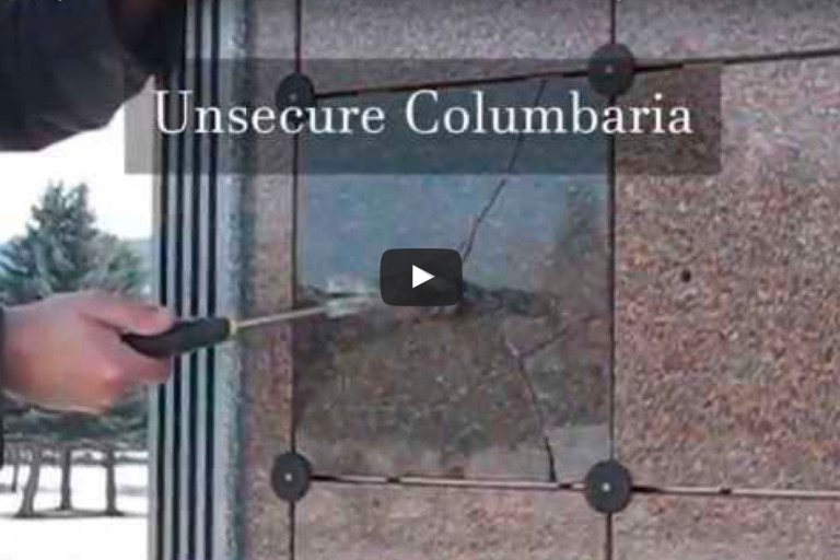 KMI Columbaria Aluminum Security Door