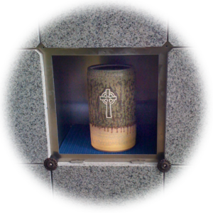 Columbaria Niche and Urn for remains after cremation