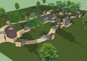 columbarium garden design